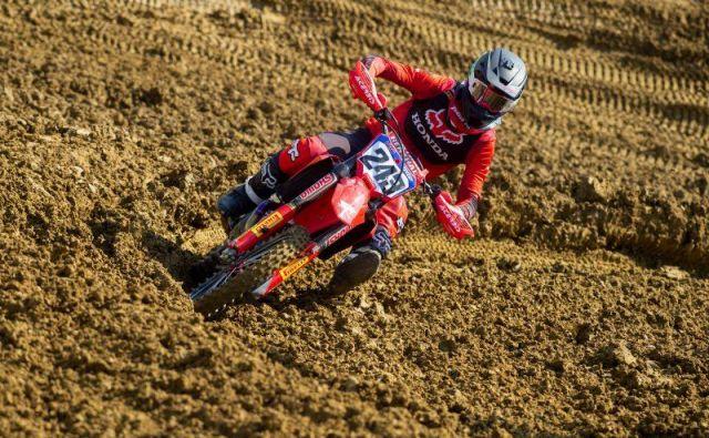 Tim Gajser ni imel najboljše prve vožnje v Mantovi.FOTO: Honda Racing