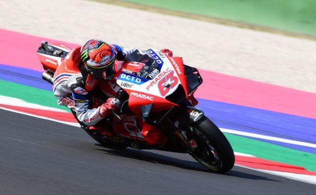 Francesco Bagnaia, svetovni prvak razreda moto2 v sezoni 2018, je pri 23 letih prepričal Ducatijeve šefe. FOTO: Jennifer Lorenzini/Reuters