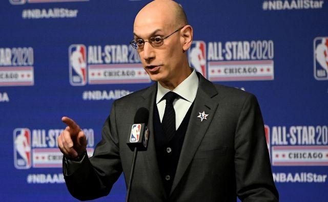 Komisar lige NBA Adam Silver še ne ve, kako natačno bo potekala naslednja sezona v najmočnejšim košarkarski ligi na svetu. FOTO: Stacy Revere/AFP