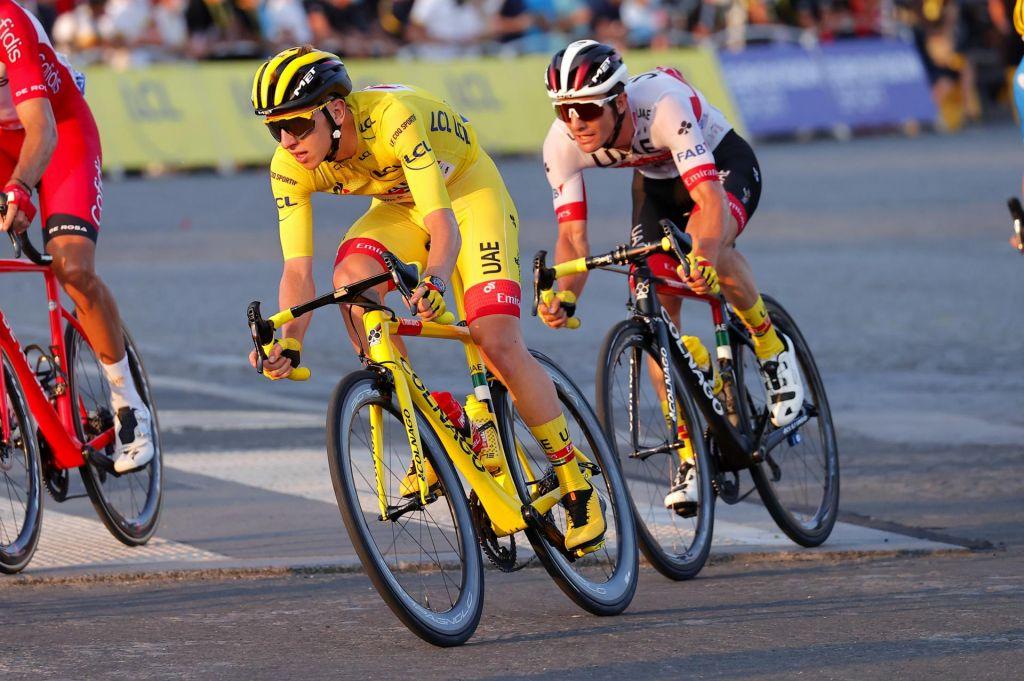 FOTO:Colnagovo kolo s Pogačarjem končno rumeno
