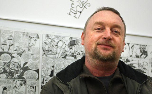 Tomaž Lavrič je eden najbolj avtentičnih slovenskih striparjev. Foto Igor Zaplatil