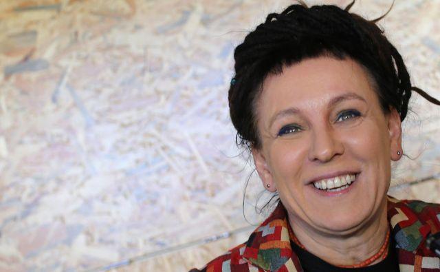 Olga Tokarczuk je prejemnica Nobelove nagrade za leto 2018, istega leta je dobila mednarodnega bookerja, leta 2013 pa je bila nagrajenka Vilenice. Foto Tomi Lombar