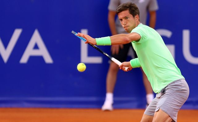 Aljaž Bedene se med dvojicami ni prebil v 3. krog Roland-Garrosa.<br /> FOTO: Željko Hajdinjak/Cropix