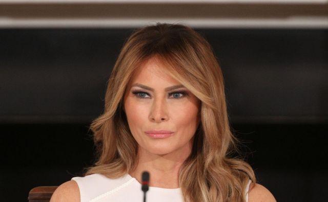 Ameriška prva dama slovenskega rodu Melania Trump. FOTO: Tom Brenner/Reuters