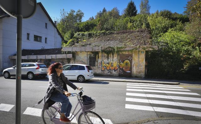 Namesto pritlične podrtije naj bi na Streliški ulici 30 zrasel sodoben štiristanovanjski objekt. FOTO: Jože Suhadolnik/Delo