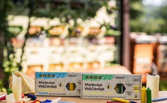 Voščenke so izdelane iz naravnega čebeljega voska. FOTO: Aljoša Rebolj