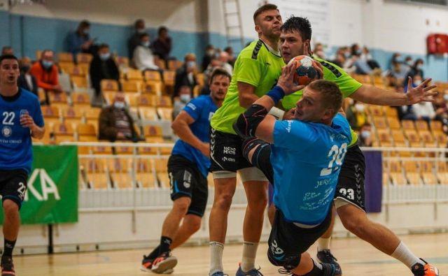 Danijel Mesarič je na svoj rojstni dan dosegel odločilni gol za zmago Jeruzalema v Novem mestu. FOTO: RK Jeruzalem