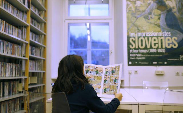 Francoski inštitut v Ljubljani je prostor kulture in literature.  <br /> FOTO: Blaž Samec