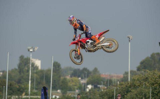 Tim Gajser je najboljše začel dirko za VN Evrope.FOTO: Honda Racing