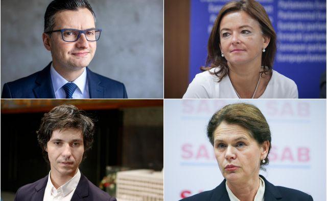 Marjan Šarec, Tanja Fajon, Luka Mesec,Alenka Bratušek. FOTO: Delo