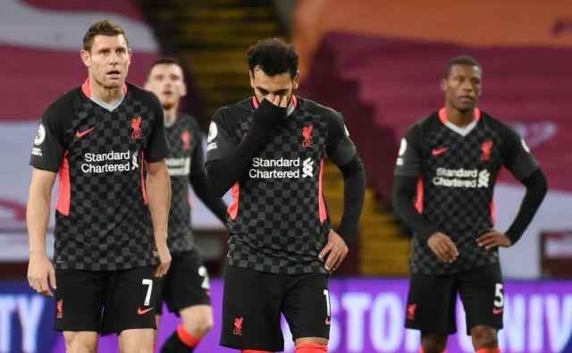 Liverpoolovim igralcem ni bilo jasno, kaj se jim je zgodilo na Villa Parku. FOTO: Rui Vieira/Reuters