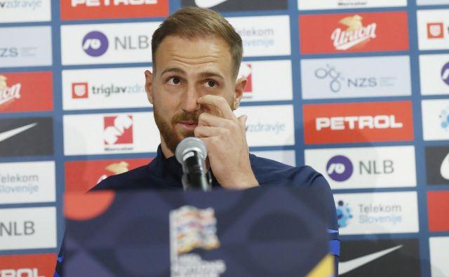 Jan Oblak naj bi poveljeval reprezentanci tudi v današnji prijateljski tekmi s San Marinom. FOTO: Leon Vidic