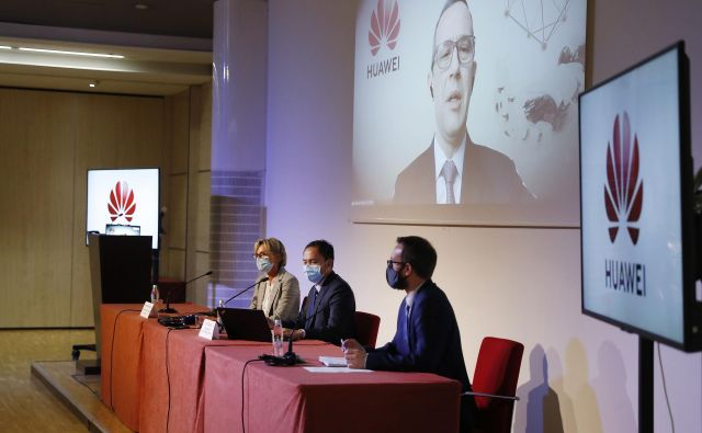 Novinarska konferenca Huawei. Ljubljana, 6. oktober 2020 Foto: Leon Vidic/Delo