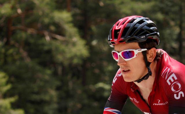 Geraint Thomas je bil tokrat favorit za zmago, toda od Gira se poslavlja že po treh etapah. FOTO: Gonzalo Fuentes/Reuters