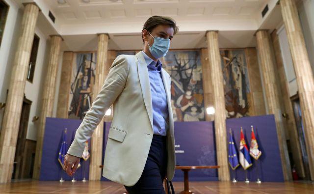 Ker je Ana Brnabić poslušna vojakinja vladajoče Srbske napredne stranke (SNS), ki ji suvereno vlada Vučić, se ne bo nič spremenilo. Foto Marko Djurica/Reuters