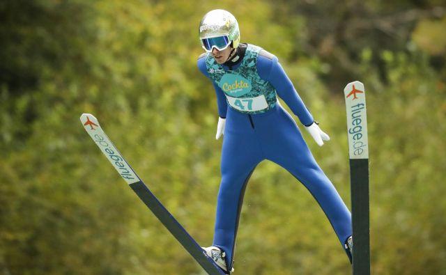 Timi Zajc je zanesljivo ubranil naslov »poletnega« državnega prvaka v smučarskih skokih. FOTO: Uroš Hočevar