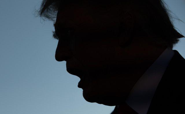 Trump v septembrskem prikazu fotografa agencije AFP FOTO: Saul Loeb/AFP