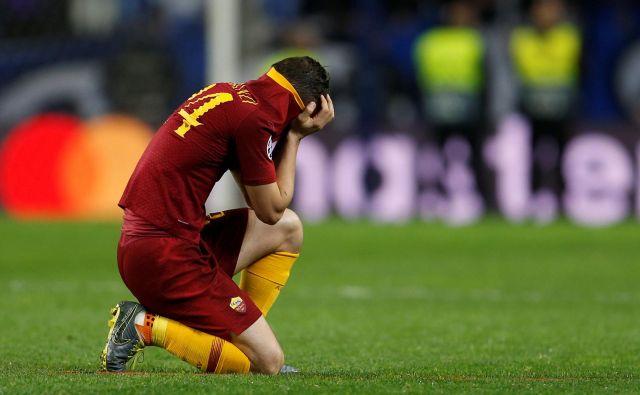 Rimskemu nogometnemu ponosu se obetajo težki časi tudi pod taktirko novega lastnika Američana Dana Friedkina, ki je lani od rojaka Jamesa Pallotte odkupil klub za 600 milijonov evrov. FOTO: Inquam Photos/Reuters