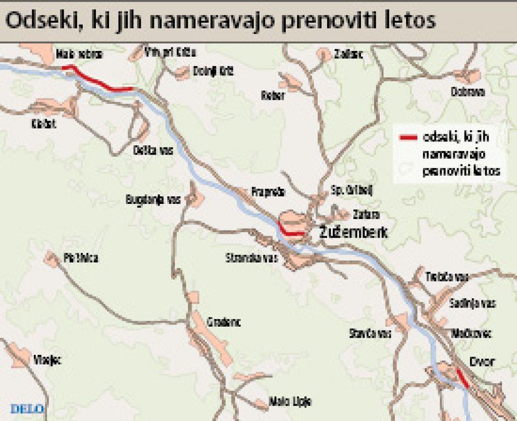 Suha Krajina: DRSC 19 kilometrov ceste obnavlja že deset let