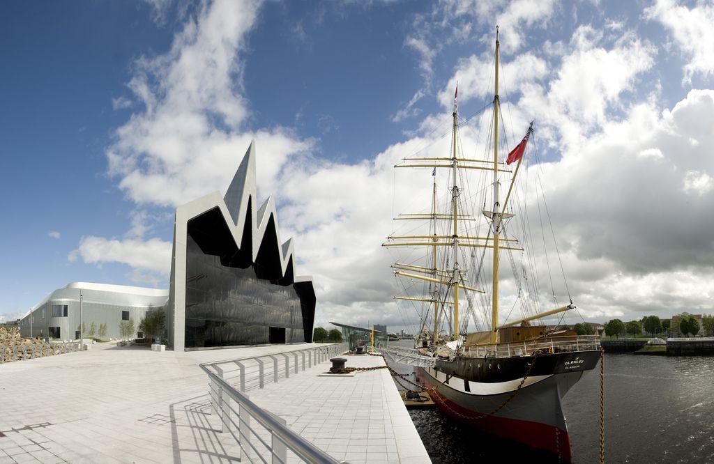 Muzej transporta Riverside v Glasgowu na Škotskem