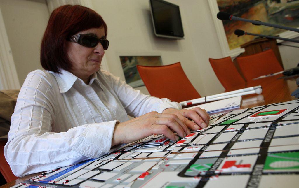Taktilne karte za slepe v Mariboru