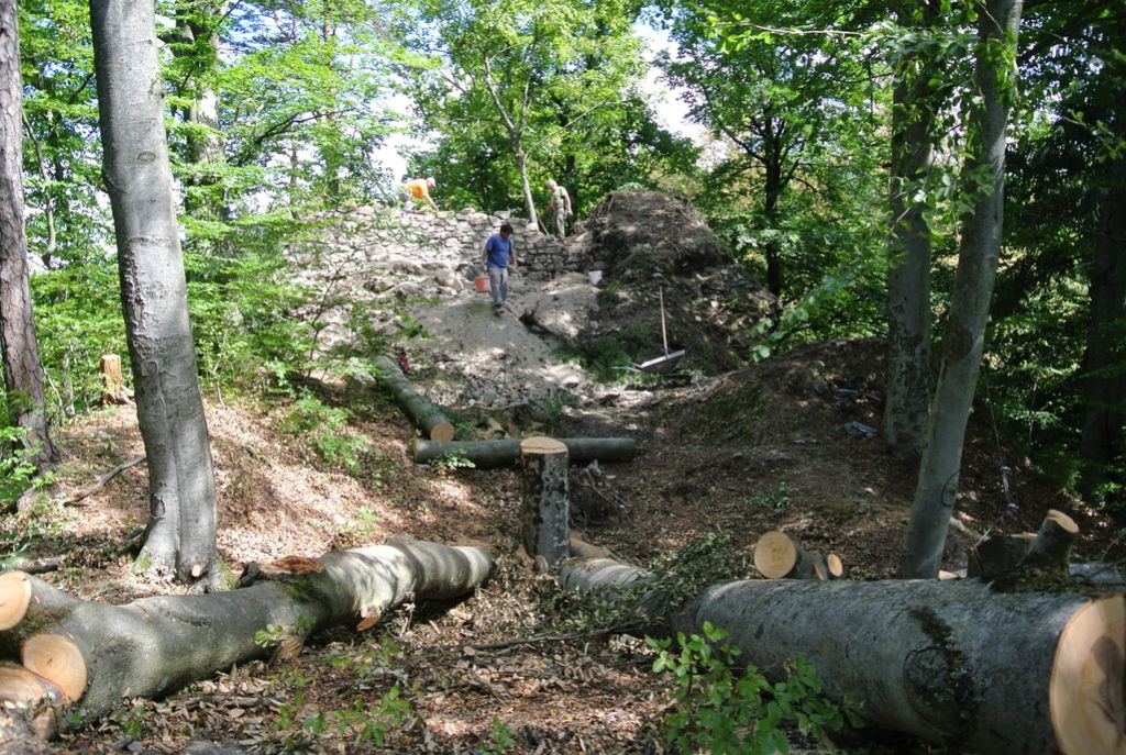 Nad Radljami popravljajo grajske ruševine