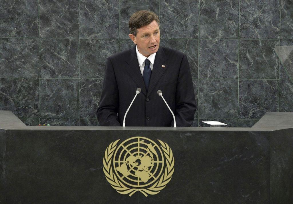 Pahor v OZN: »Prihodnost so Združene države Evrope«