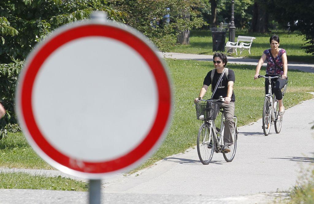 Načrti: kmalu skozi Tivoli po kolesarski poti