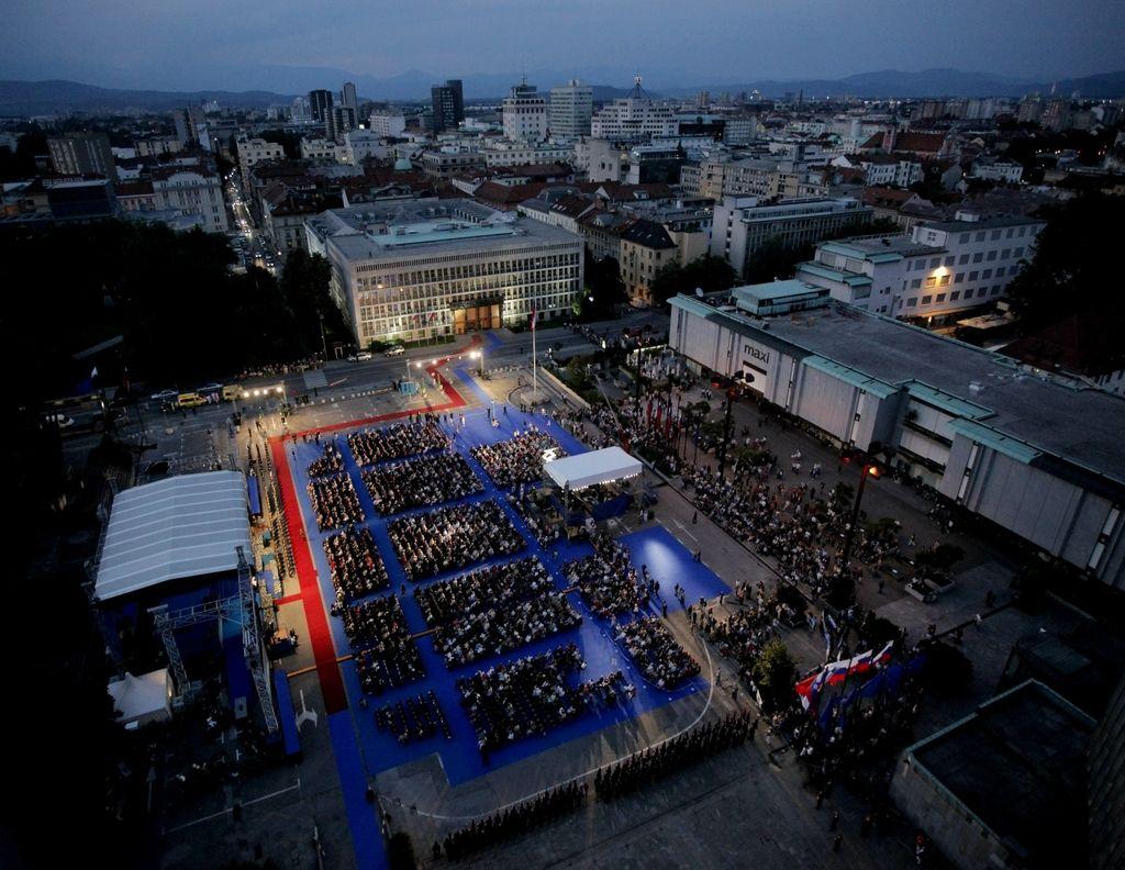 Ljubljanski Trg republike: velika ambicija, ki je dišala po osamosvojitvi