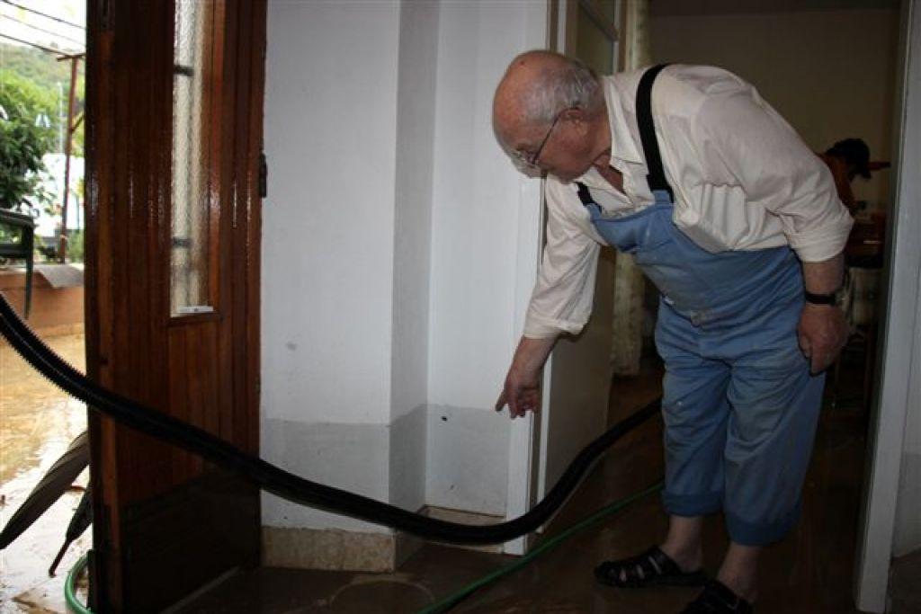 Poplave in plazovi prizadeli slovensko Istro
