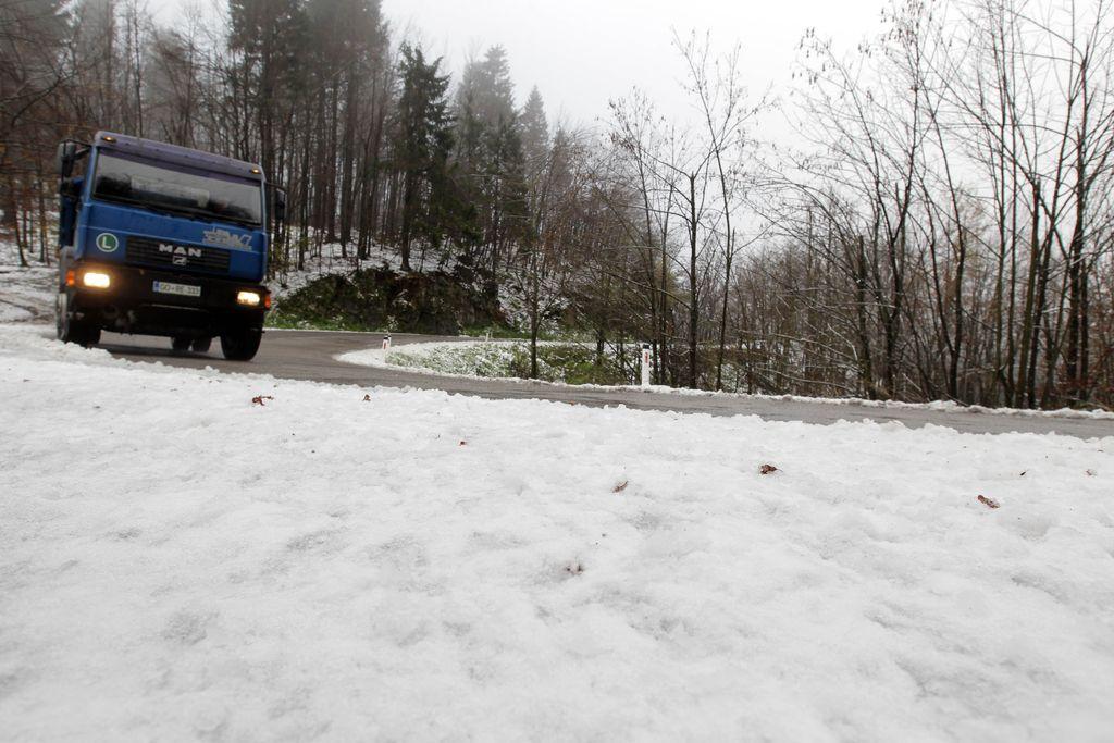 Sneg ponoči belil slovenske vrhove in ovce