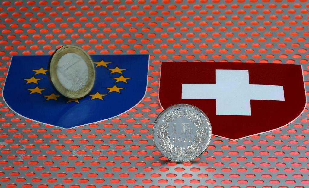 Konverzija švicarskih frankov v evre