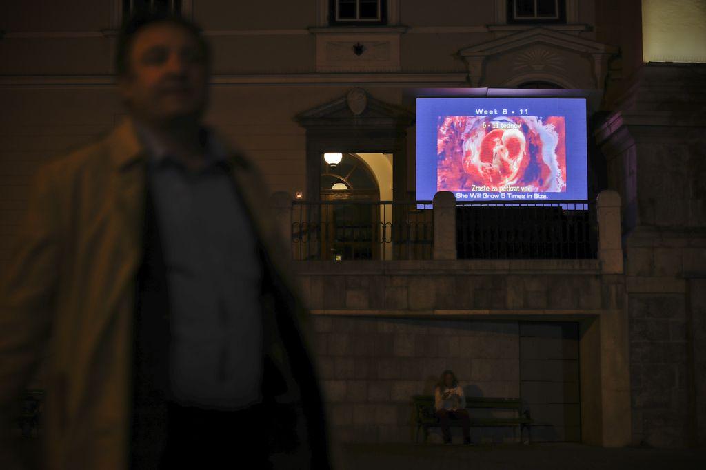Proti splavu na frančiškanski cerkvi v Ljubljani