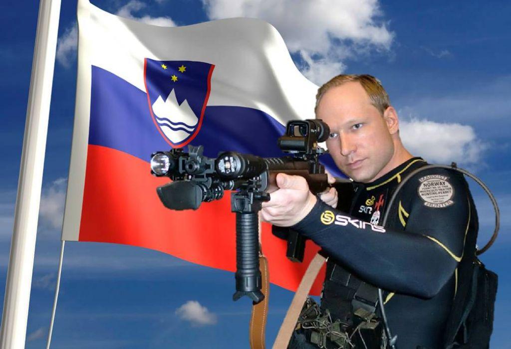 Breivik: V Sloveniji imam zveste brate in sestre